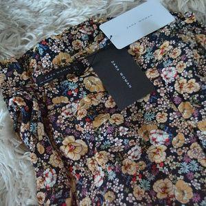 Zara Woman Floaty Floral Trousers